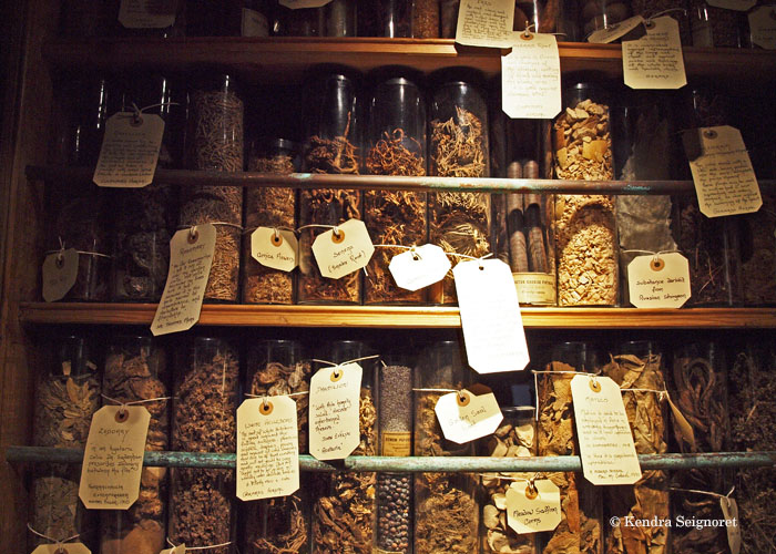 Herbs at the Musem of Witchcraft and Magic, Cornwall