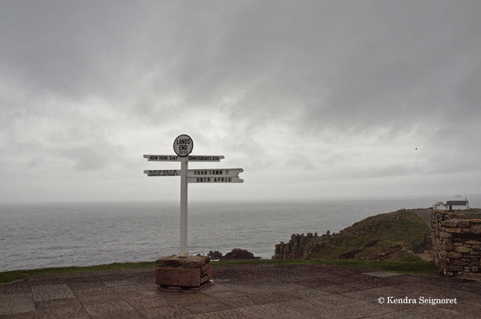 Ten Points for Gloomy Weather at Land's End - Rusty Travel Trunk