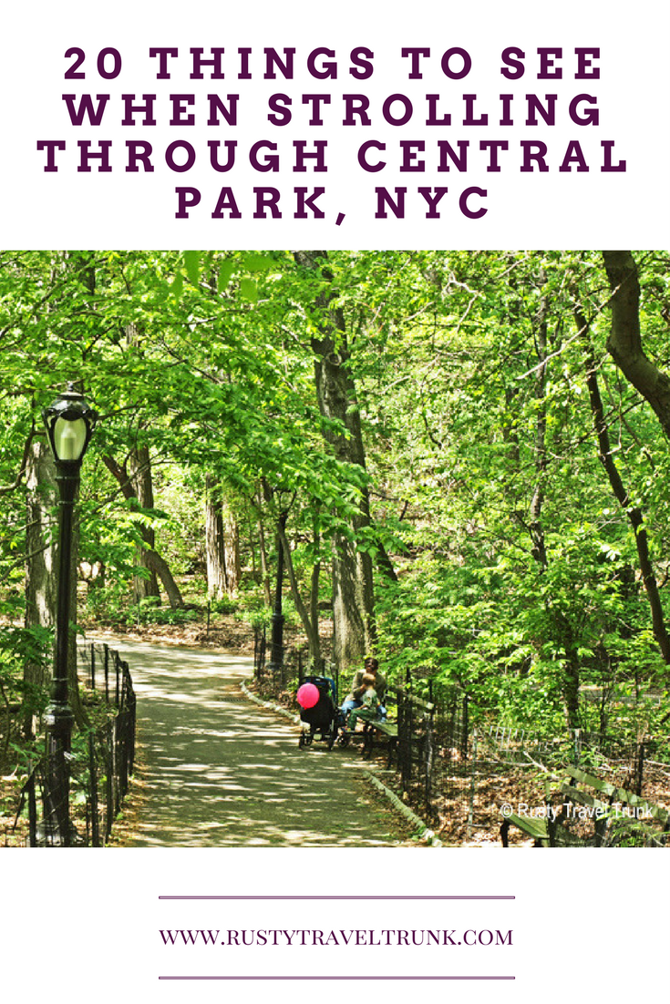 A Stroll Through Central Park - Rusty Travel Trunk
